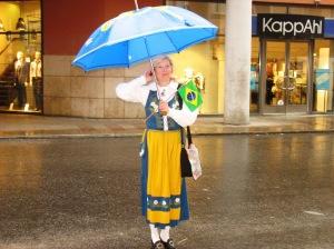 anneli sveriged brasil flagga paraply
